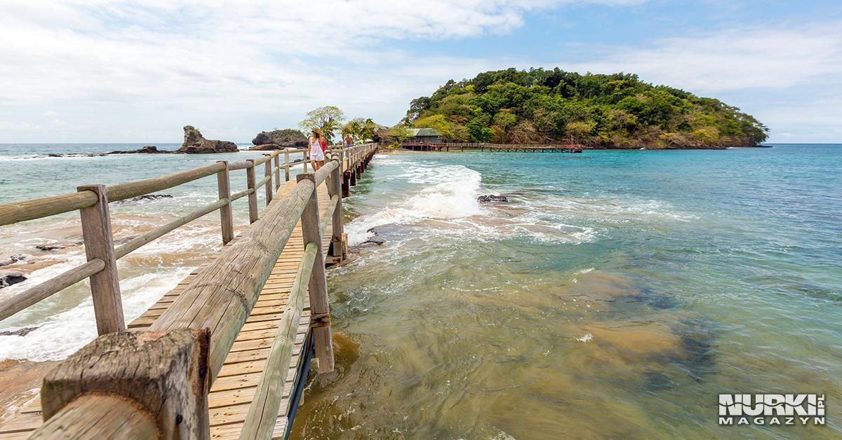 Magazyn Nurki.pl Sao Tome & Principe Wyspa Swiętego Tomasza i Książęca Afryka Pomost na wyspę