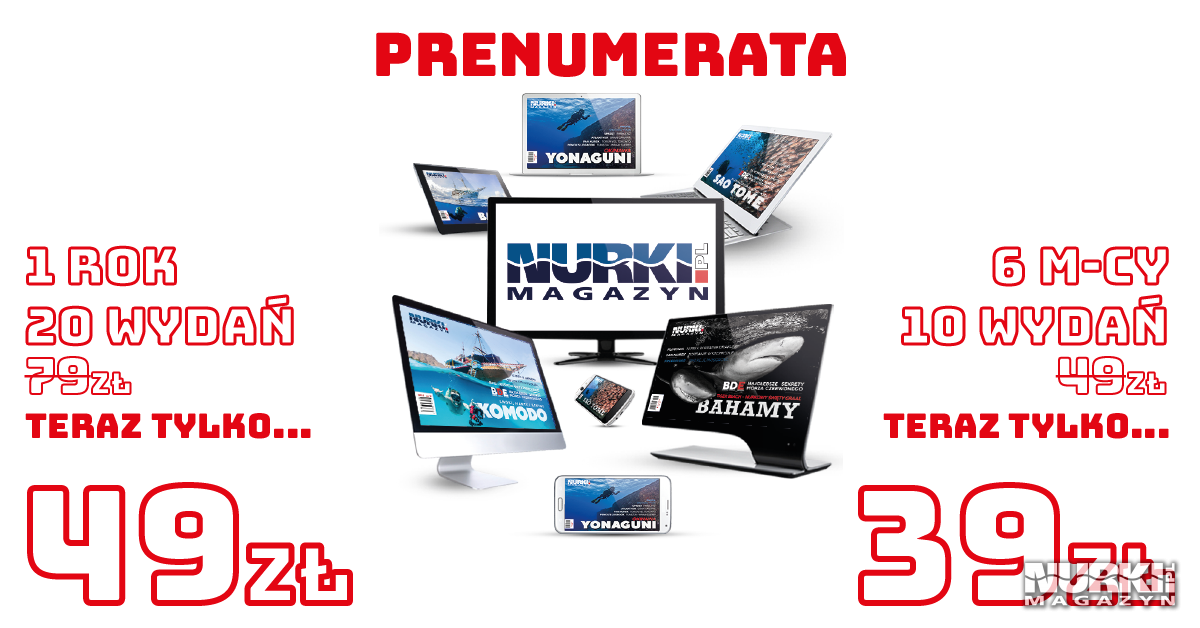 Magazyn Nurki.pl Prenumerata Promocja Nurkowanie Scuba Diving
