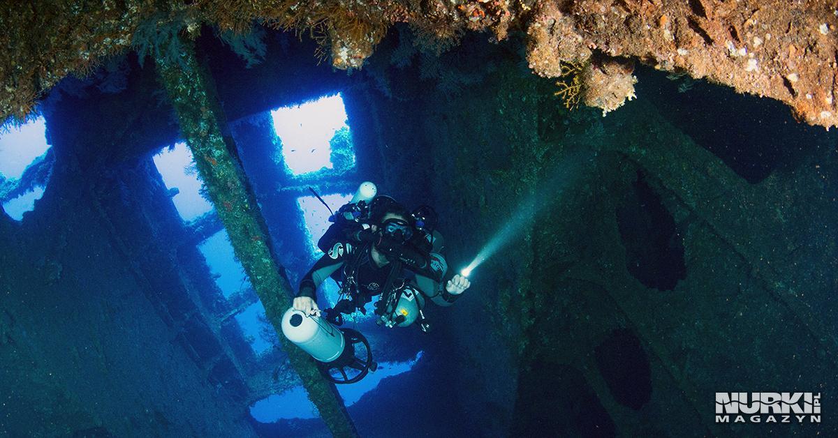 nurek techniczny skuter podwodny wrak Morze Czerwone Egipt